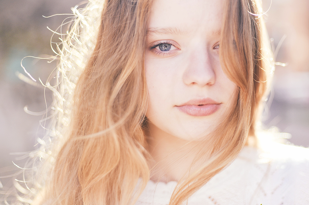 portret pod słońce