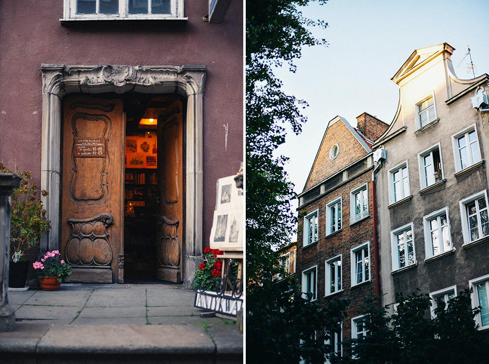 gdańsk kamienice drzwi sklep