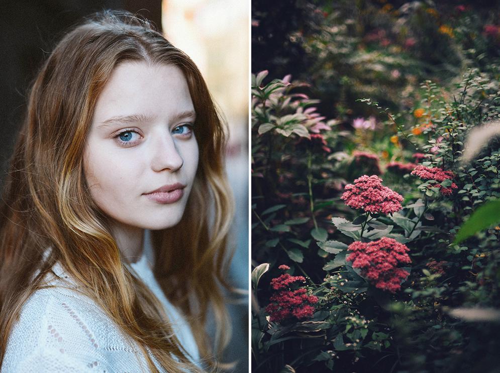 portret kwiaty