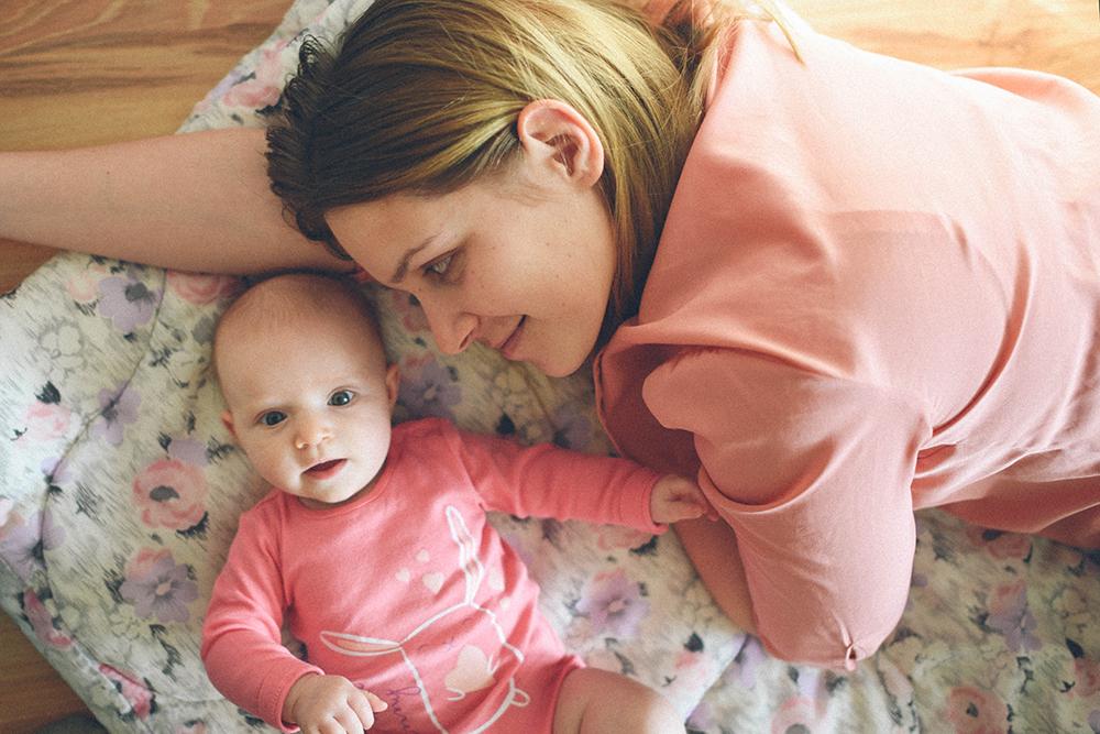 dziecko i mama portet