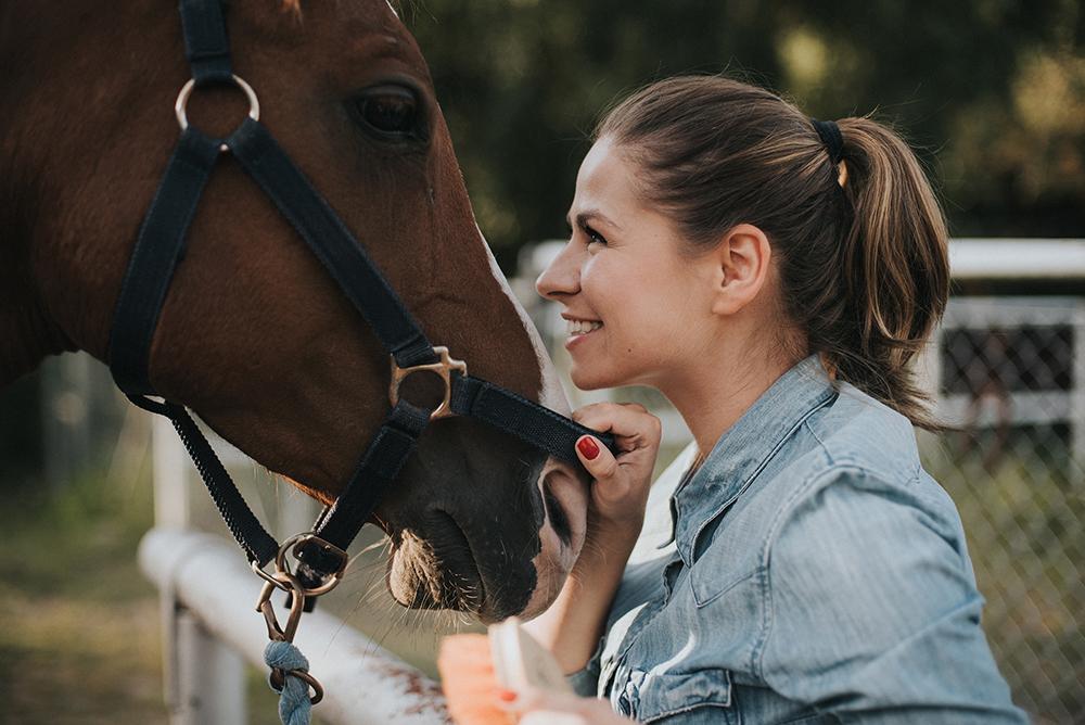 sesja portretowa z końmi