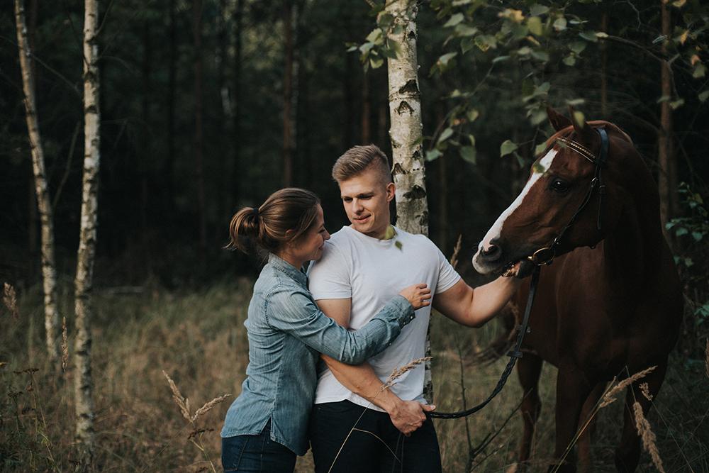 las konie sesja narzeczeńska
