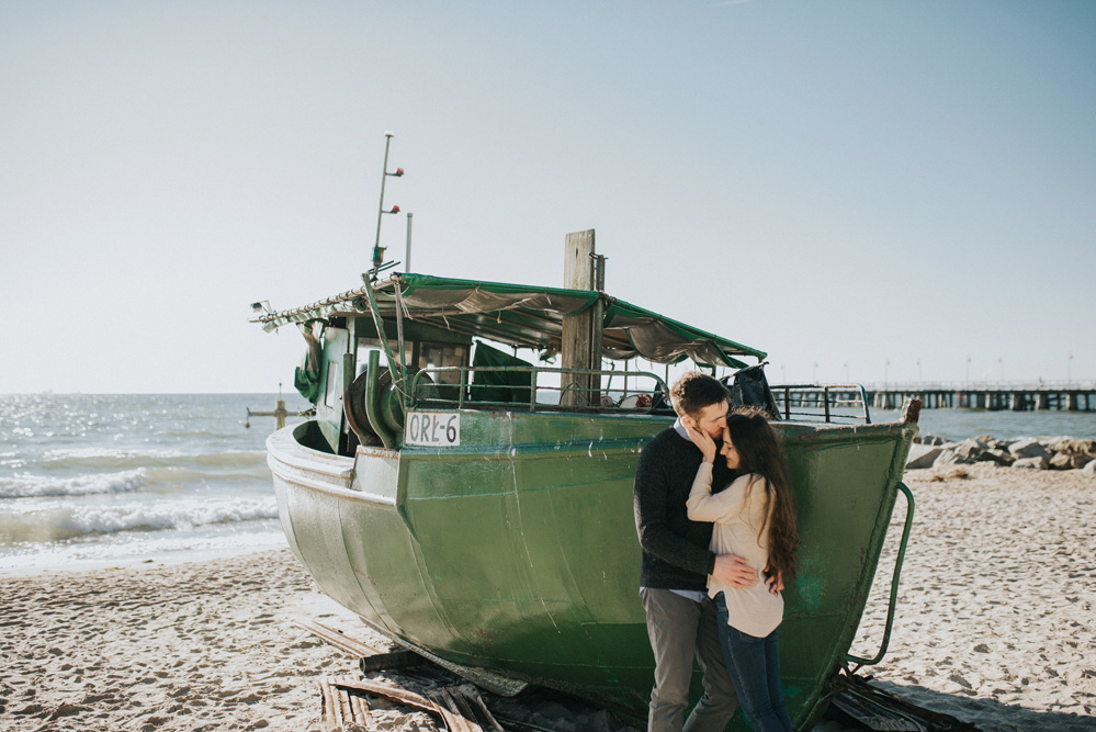 engagement polish seaside gdynia orlowo cliff boat
