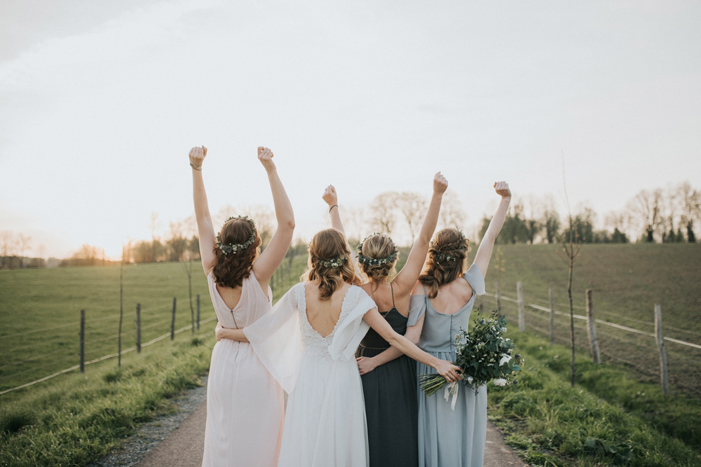druhny ślub rustykalny wianki