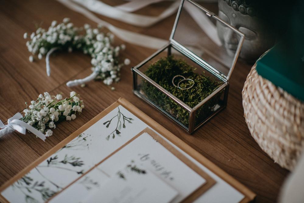obrączki mech subtelne loveprints zaproszenia ślub