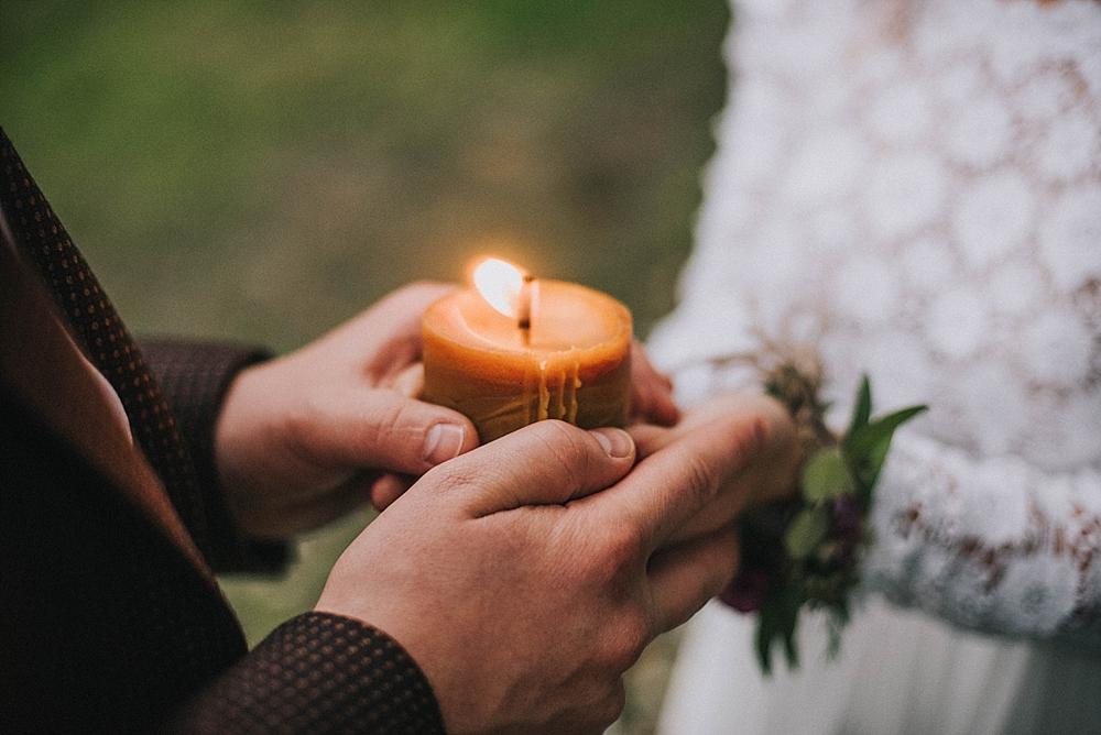 ślub humanistyczny świeca plener