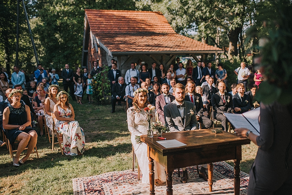 garden wedding civil wedding boho venue Poland Folwark Wąsowo