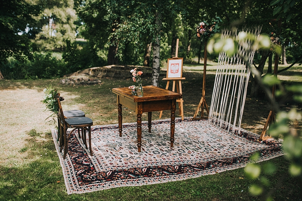 garden wedding civil wedding boho venue Poland