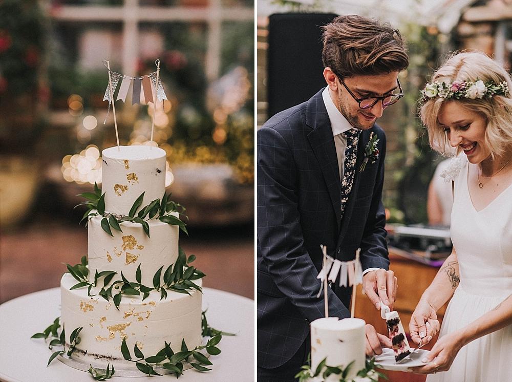ciastko z dziurką tort wesele złoto