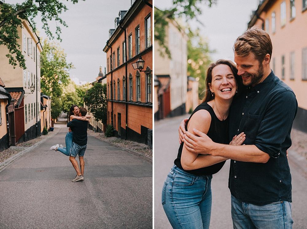 Bröllopsfotograf stockholm engagement session sodermalm