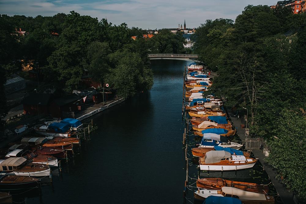 stockholm Långholmen canal boats