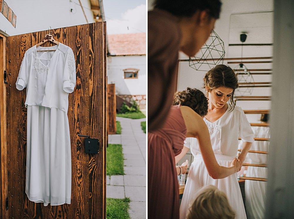 folwark ruchenka przygotowania suknia ślubna