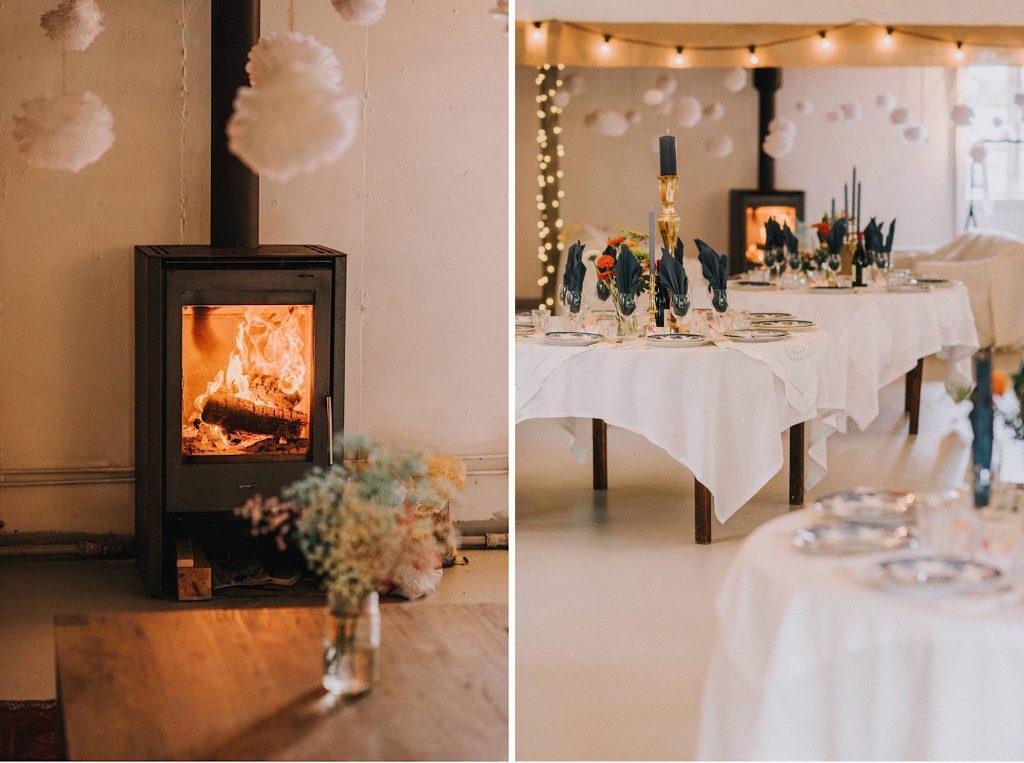 ślub w norwegii nad morzem kristiansand sala dekoracje
