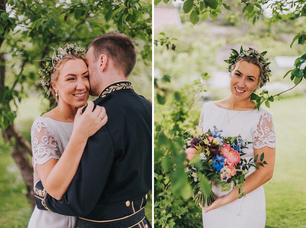 norway bride groom wedding wreath kristiansand