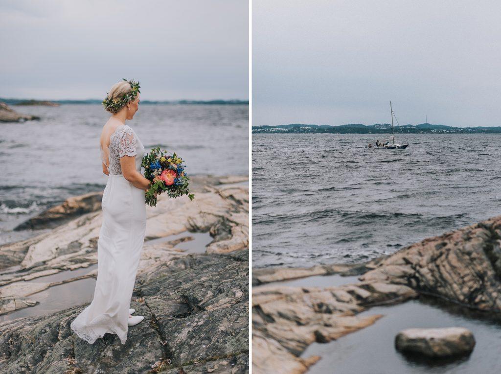 ślub w norwegii sesja nad morzem norweska panna młoda