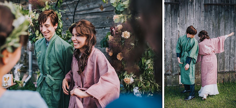 prezent ślubny haftowane kimono folwark ruchenka