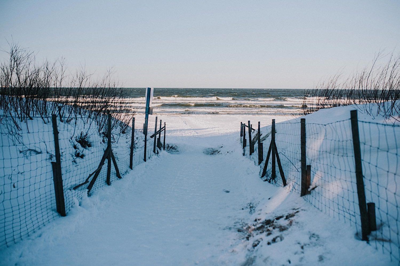 Morze zima Bałtyk śnieg Sobieszewo